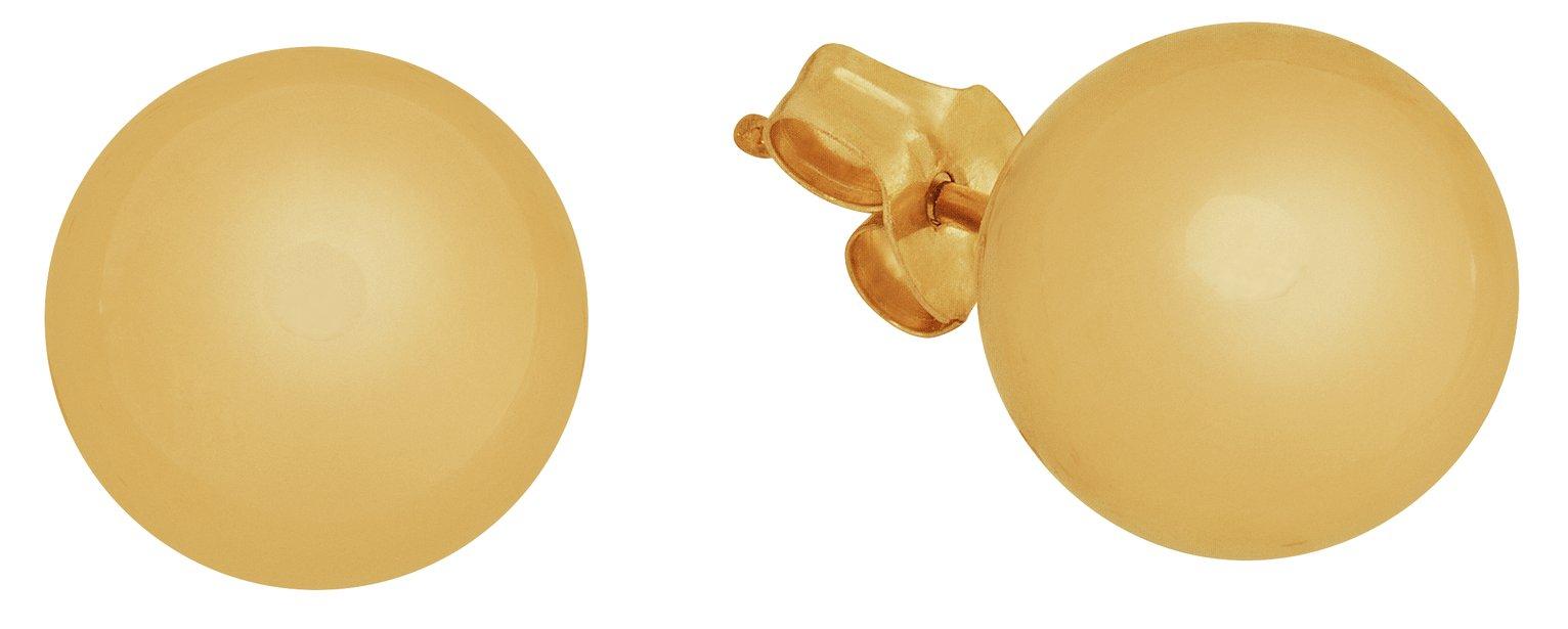 Revere 9ct Gold Ball Stud Earrings - 8mm