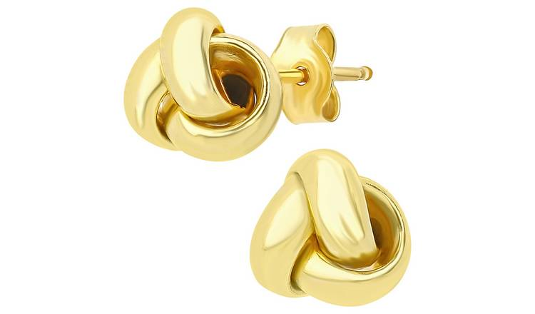 Revere 9ct Yellow Gold Triple Knot Stud Earrings