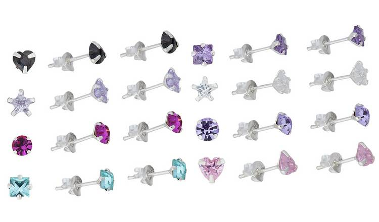 50a7a9ffc Revere Sterling Silver and Crystal Set of 8 Stud Earrings212/9893