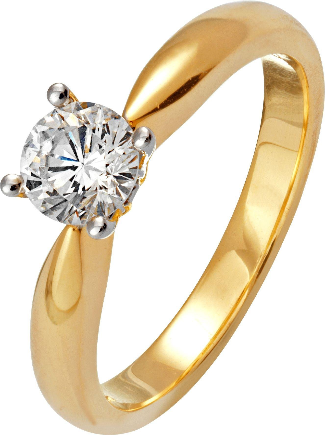 Buy Everlasting Love 18ct Gold 0 50ct Diamond Solitaire Ring L