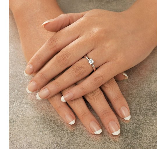 Buy Everlasting Love 18ct W Gold 0.50ct Diamond Solitaire Ring-K ... 0781619db