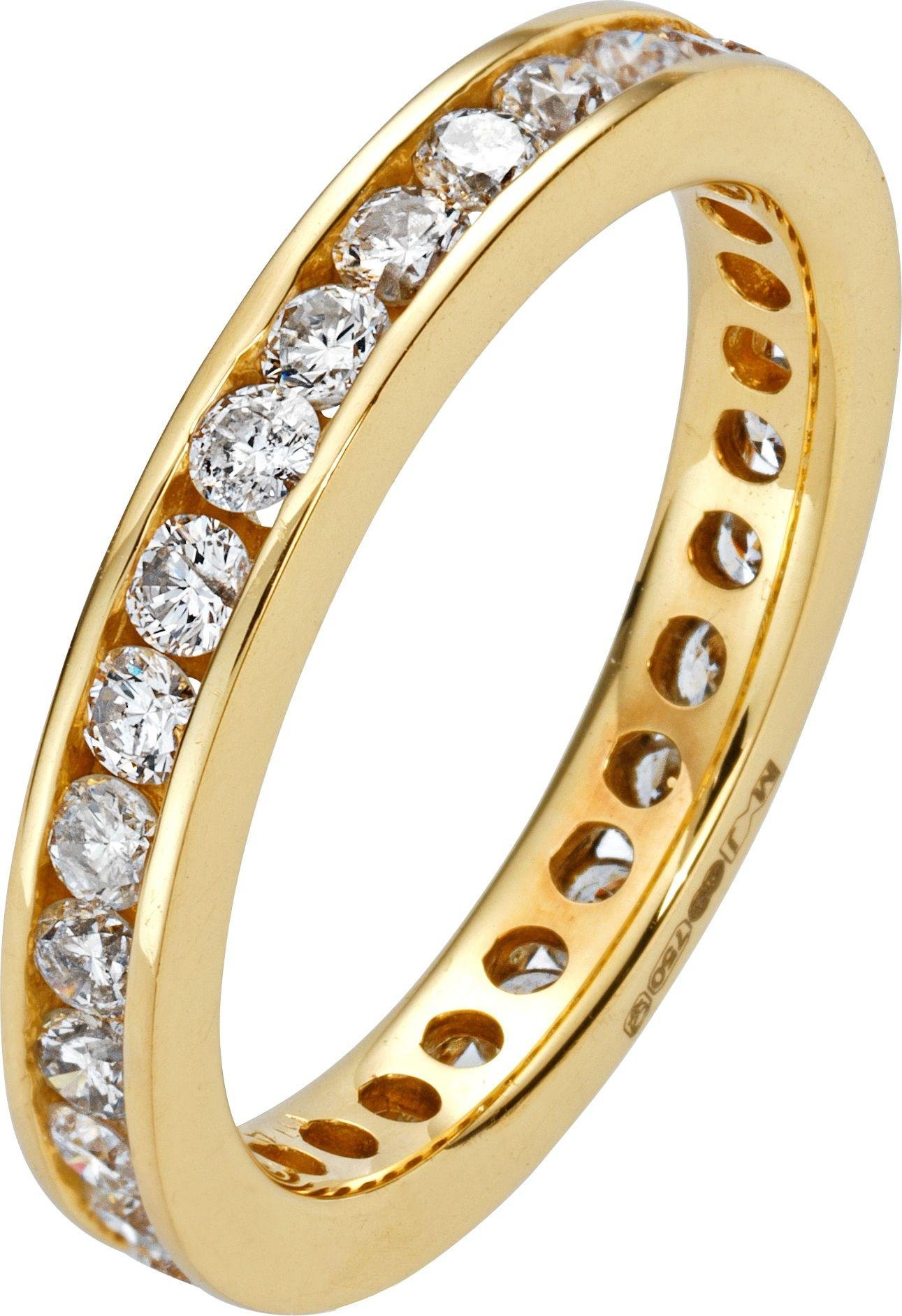 Made For You - 18 Carat Gold - 1 Carat Diamond - Eternity Ring - Size M