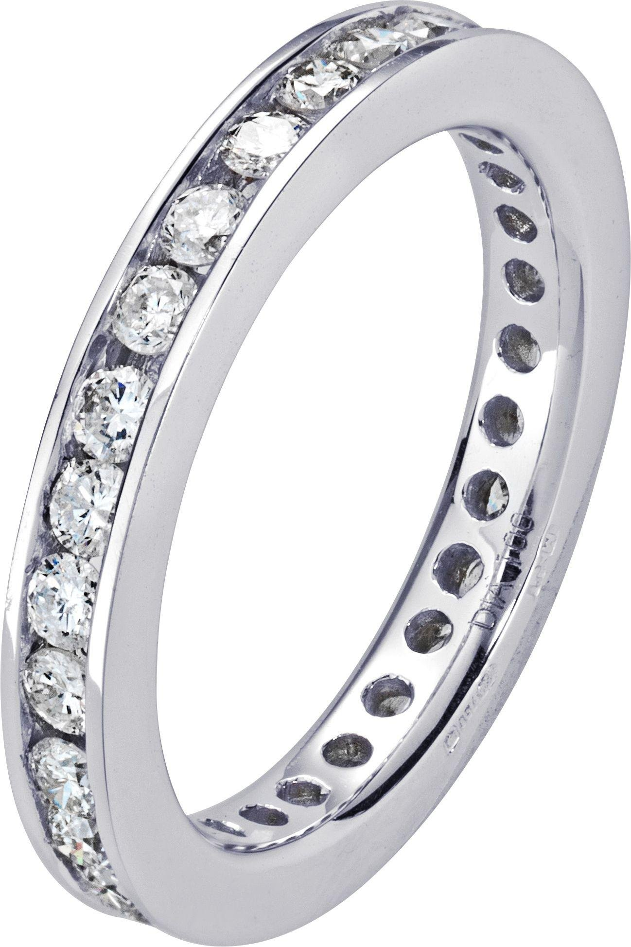 Everlasting Love Made For You - 18 Carat White Gold 1 Carat Diamond - Eternity Ring- M