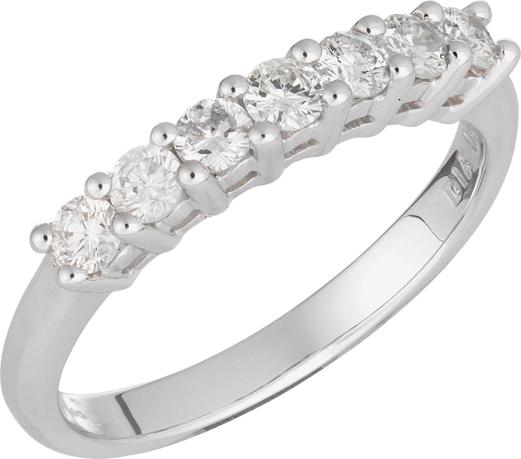 Buy Everlasting Love 9ct White Gold 7 Stone Eternity Ring K at