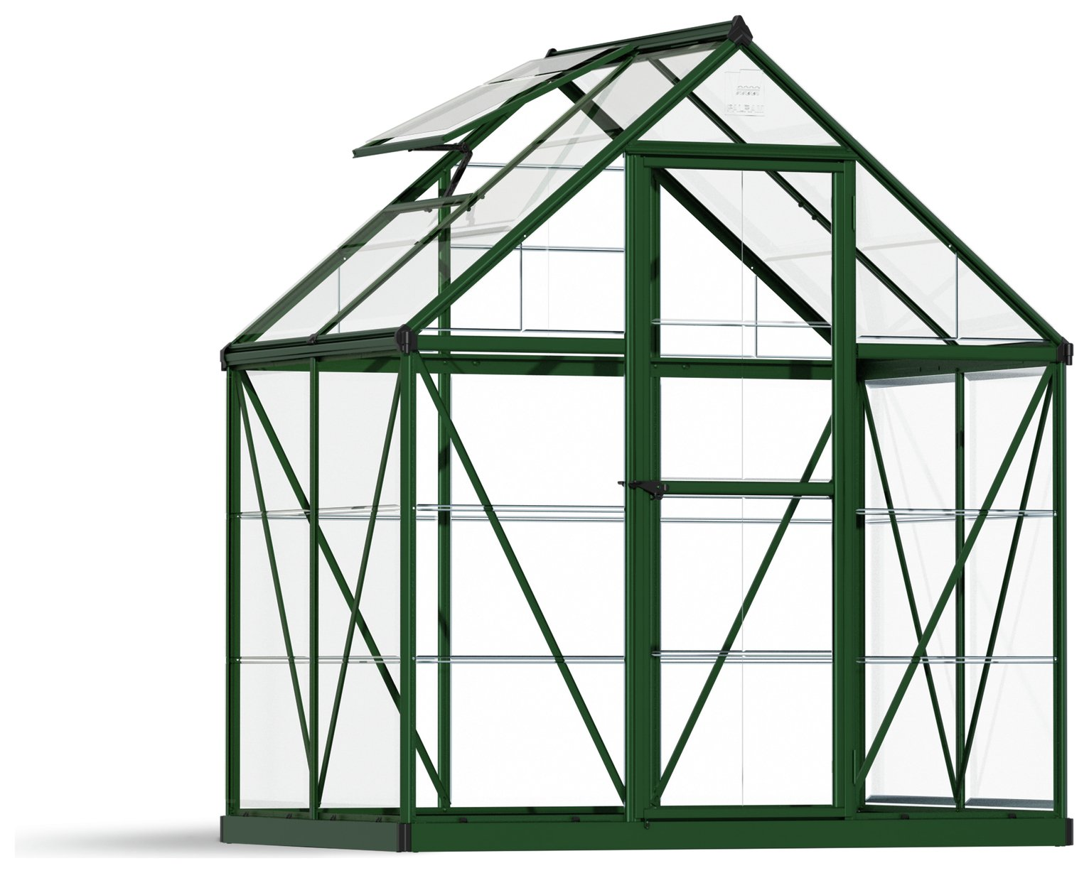 Palram Harmony Green Greenhouse 6 X 4ft