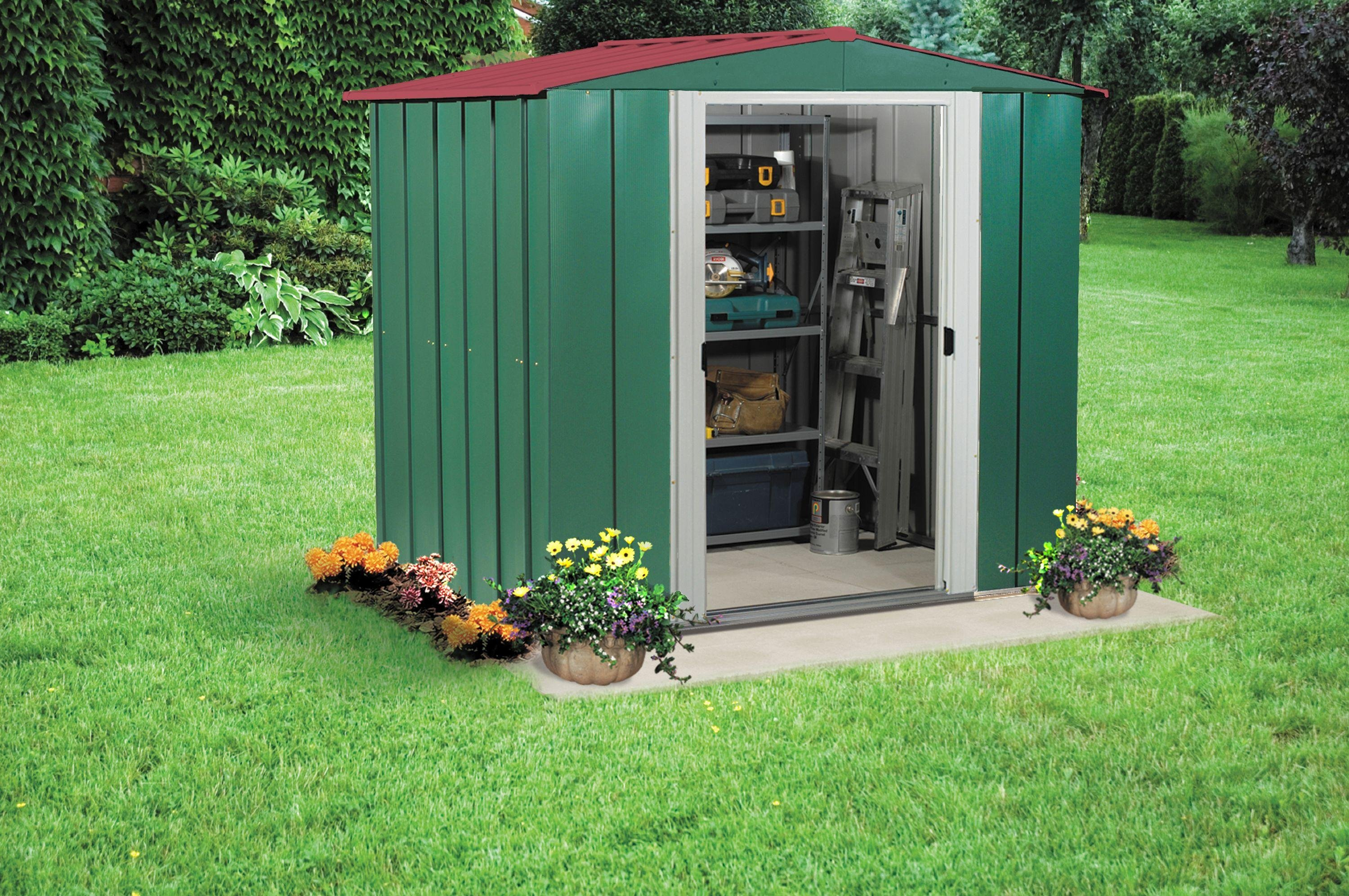 Image of Arrow - Apex Metal Garden Shed - 6 x 5ft