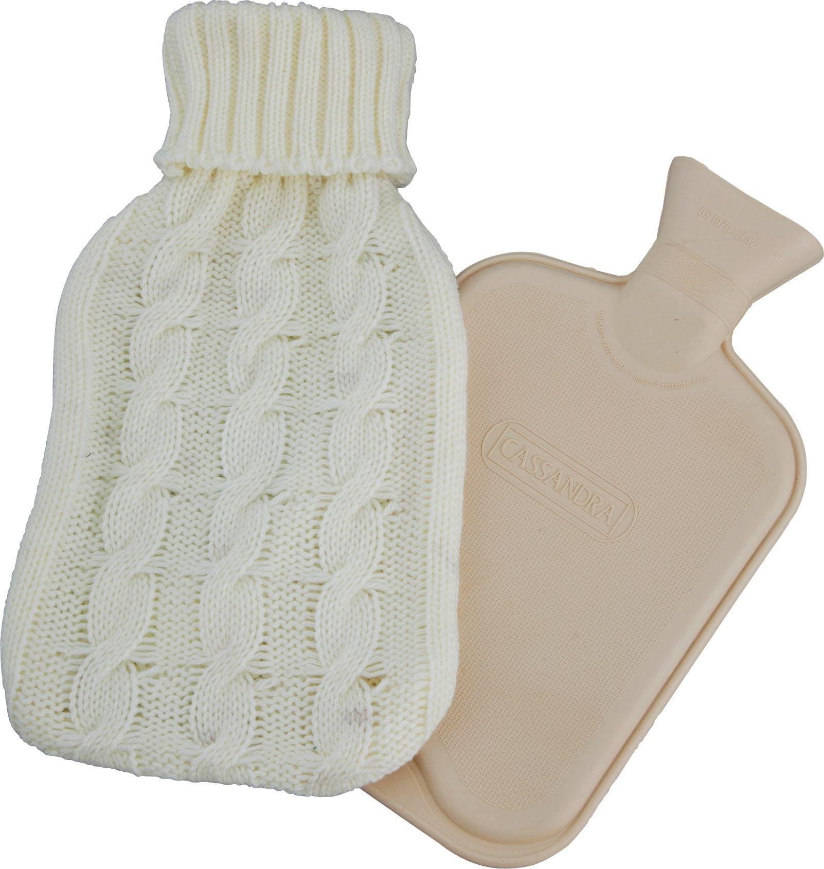 Hot Water Bottle with Chunky Knit Cover