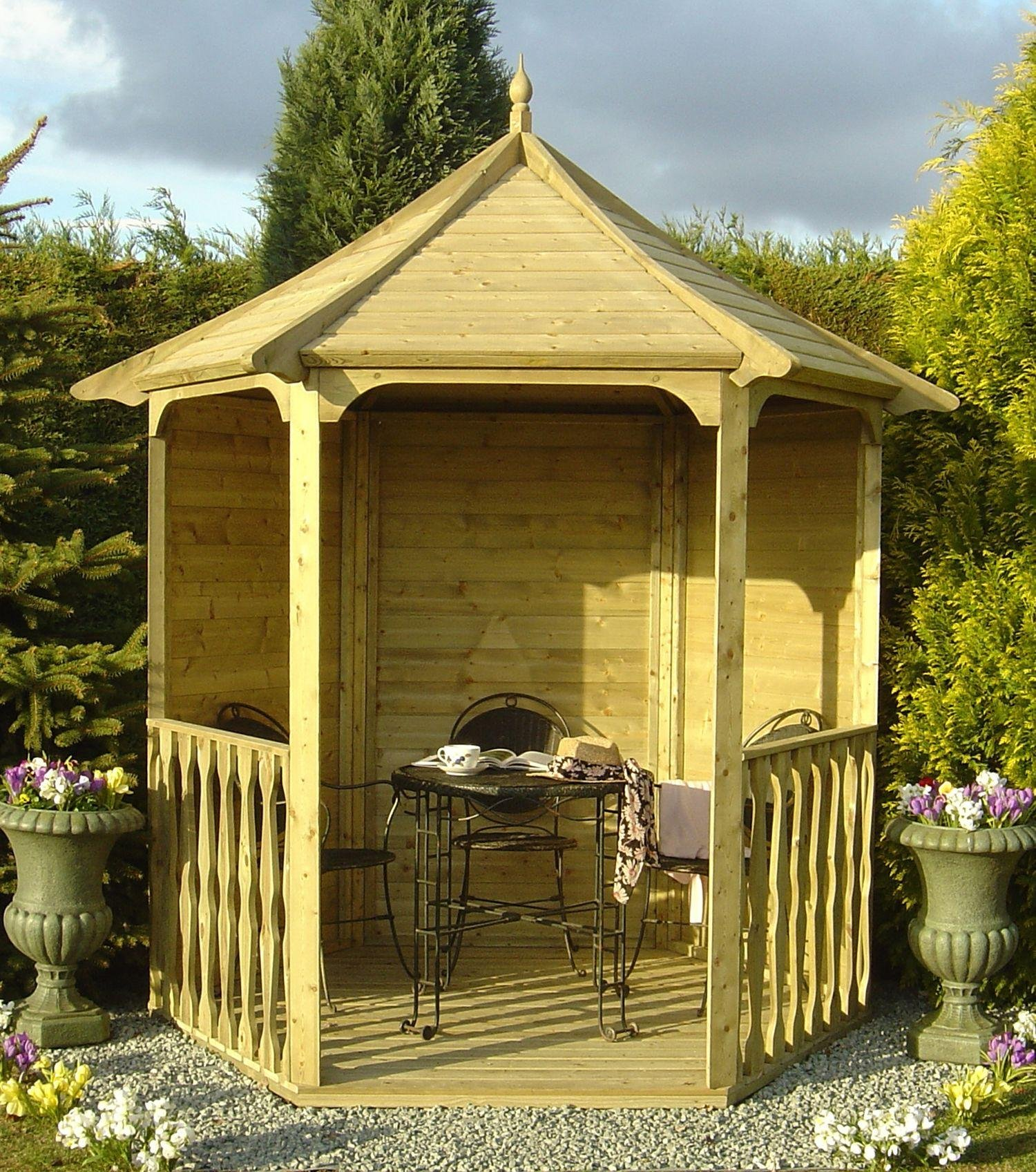 Homewood Pressure Treated Hexagonal Arbour 6 x 7ft. lowest price