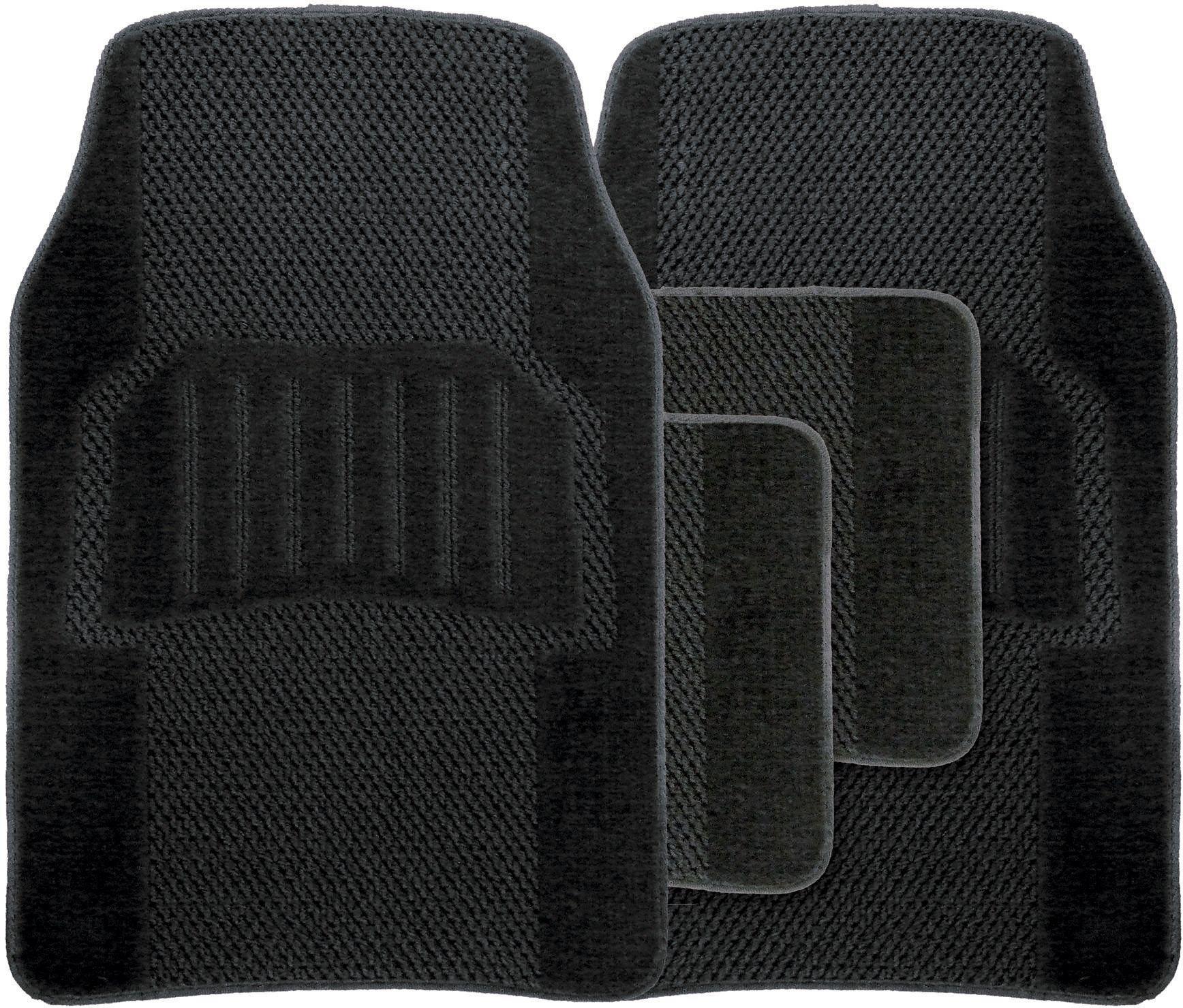 Image of Streetwize - 4 Piece Universal Premium Car Mats Set - Black