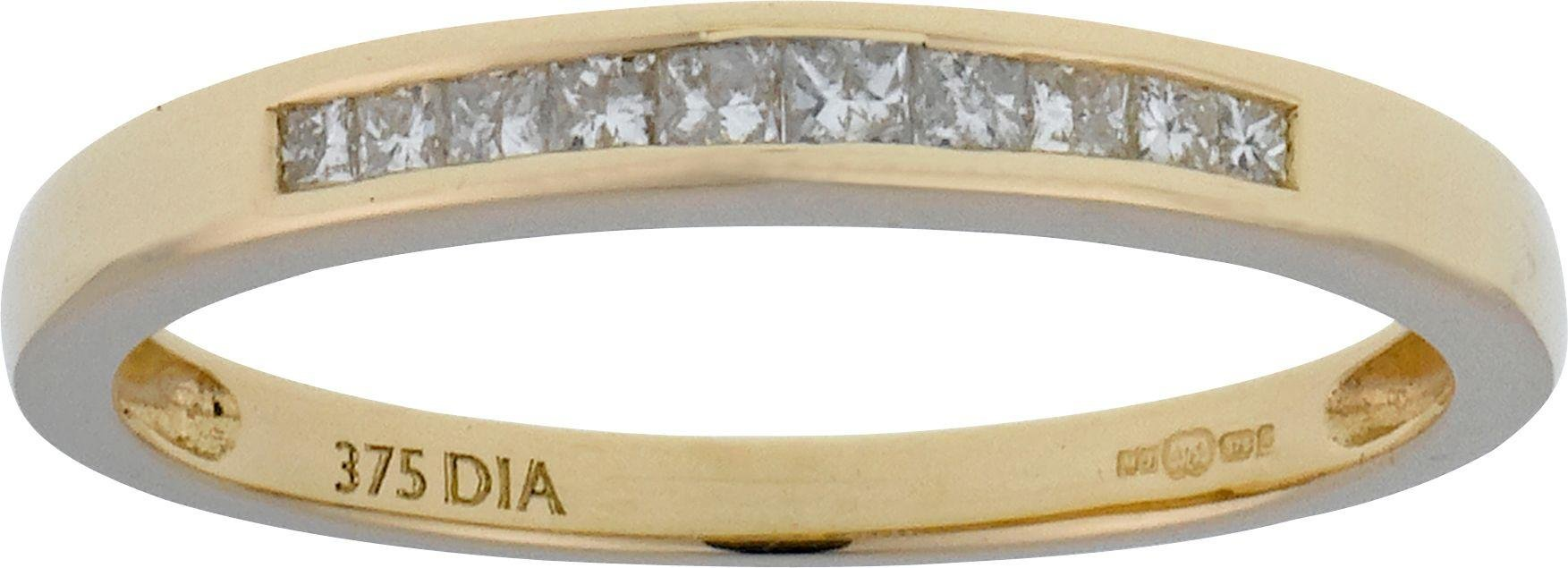 Everlasting Love 9ct Gold 0.50ct Diamond Bridal Ring Set - P