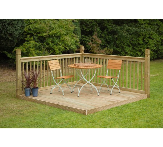 Buy forest instant patio deck kit at your for Garden decking kits uk