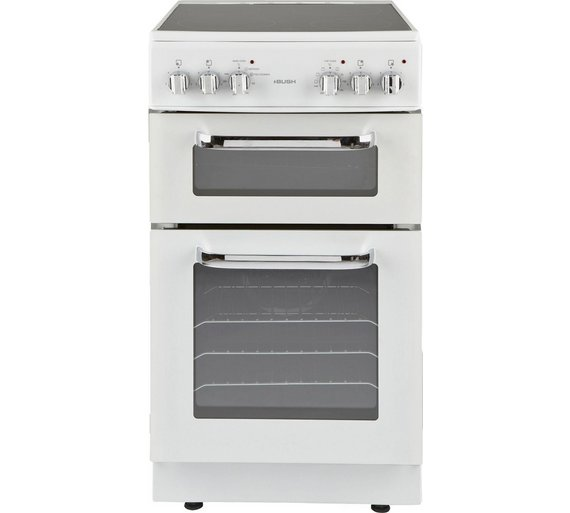 buy bush bfedc50w double electric cooker white at argos. Black Bedroom Furniture Sets. Home Design Ideas