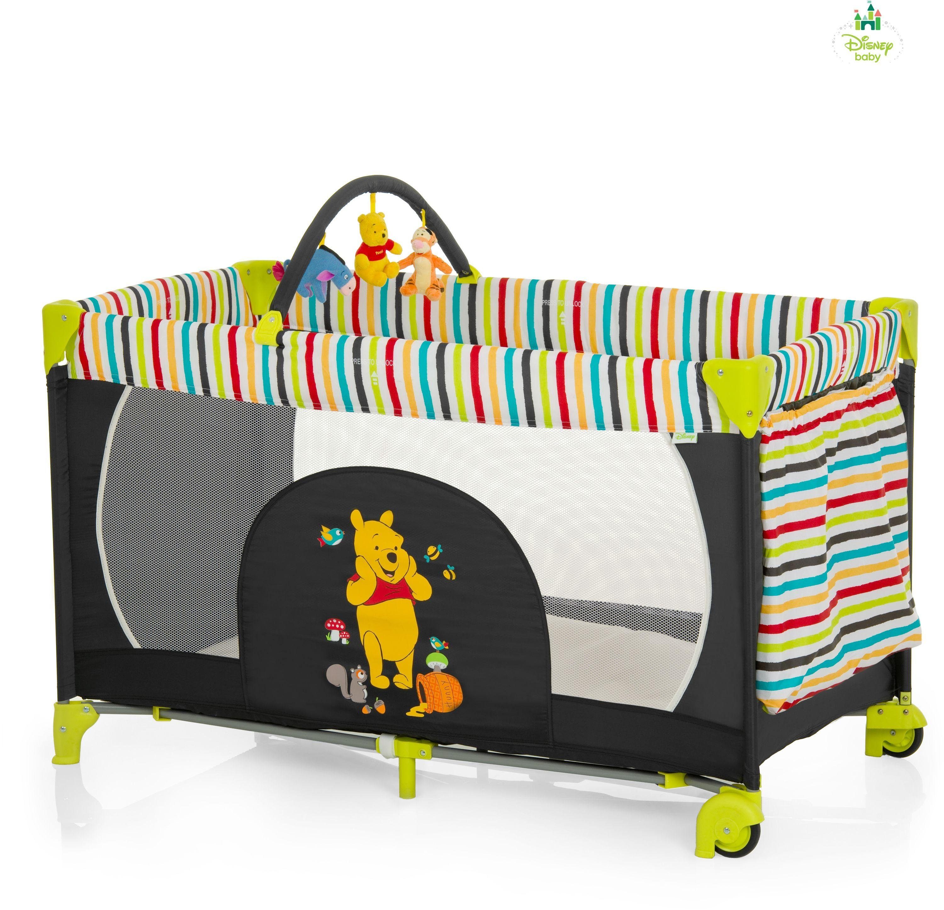 Image of Disney Baby Dream'n Play Travel Cot - Pooh Tidy Time.