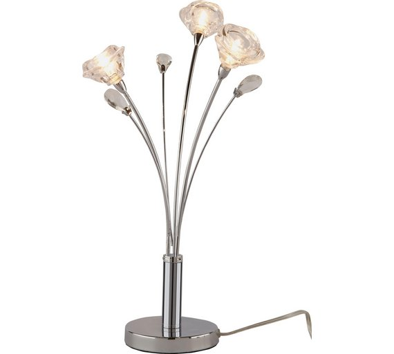Buy argos home rosa 3 light table lamp chrome table lamps argos click to zoom mozeypictures Choice Image