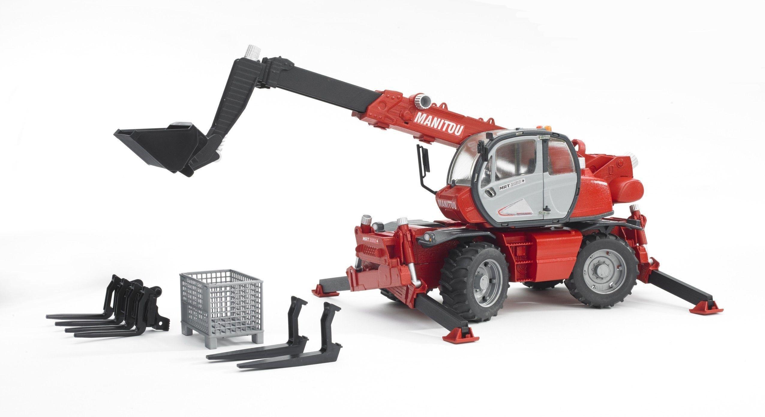 Image of Bruder 02129 Manitou Telescopic Forklift MRT.