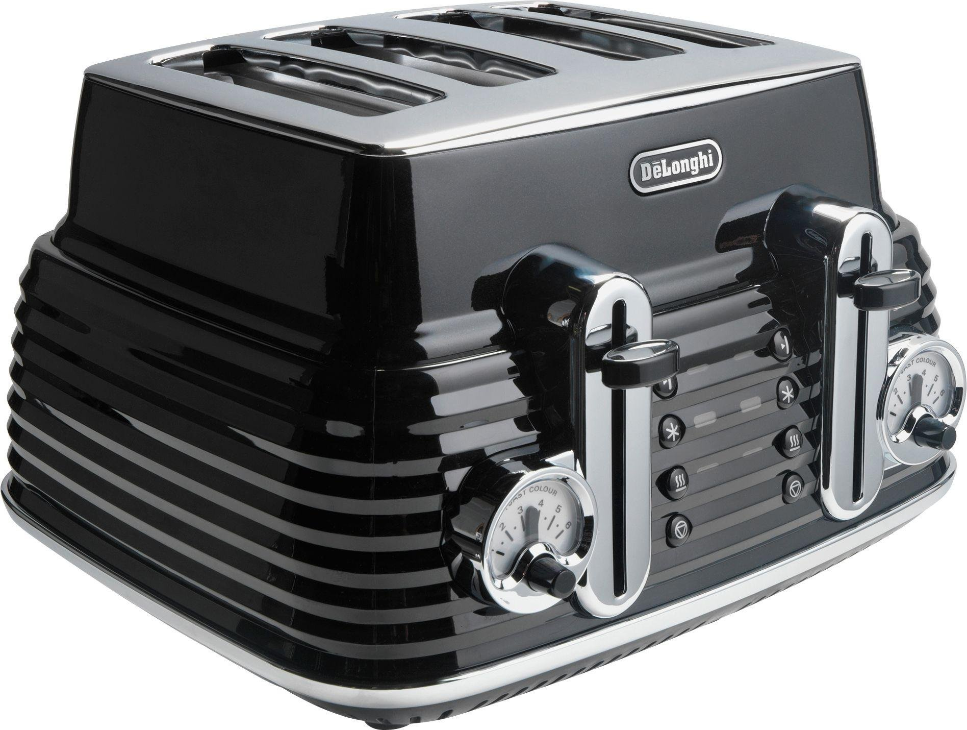 Image of De'Longhi - Toaster - 4 Slice Scultura Toaster - -Black