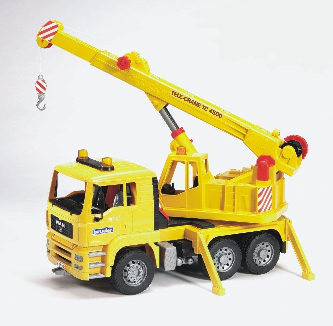 Image of Bruder 02754 MAN TGA Crane Truck.