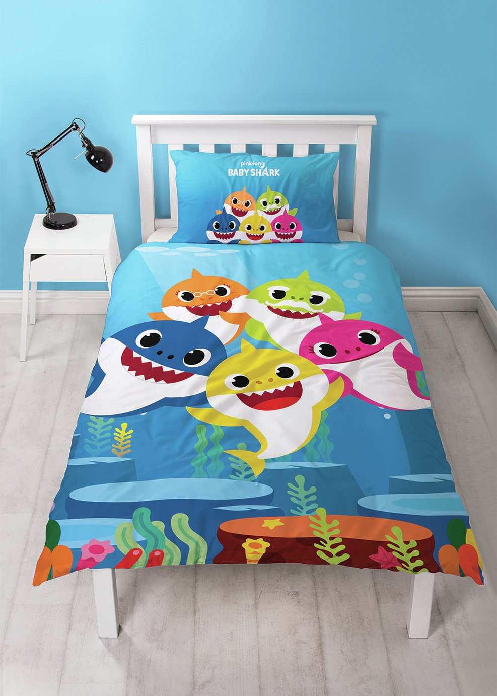 Baby Shark Underwater Children's Bedding Set - Single