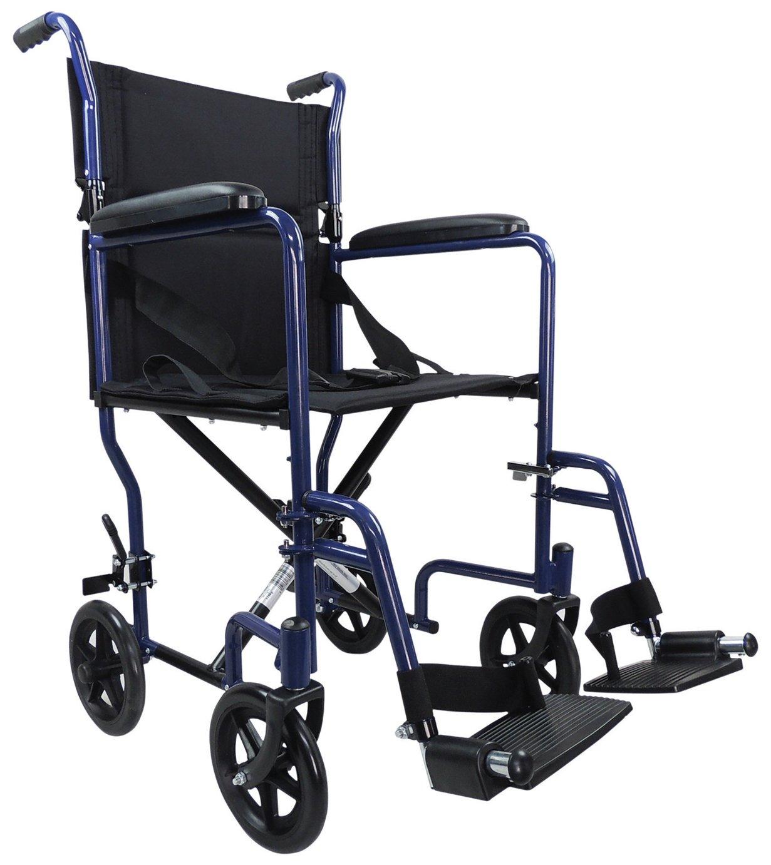 Aidapt Steel Compact Blue Transit Chair