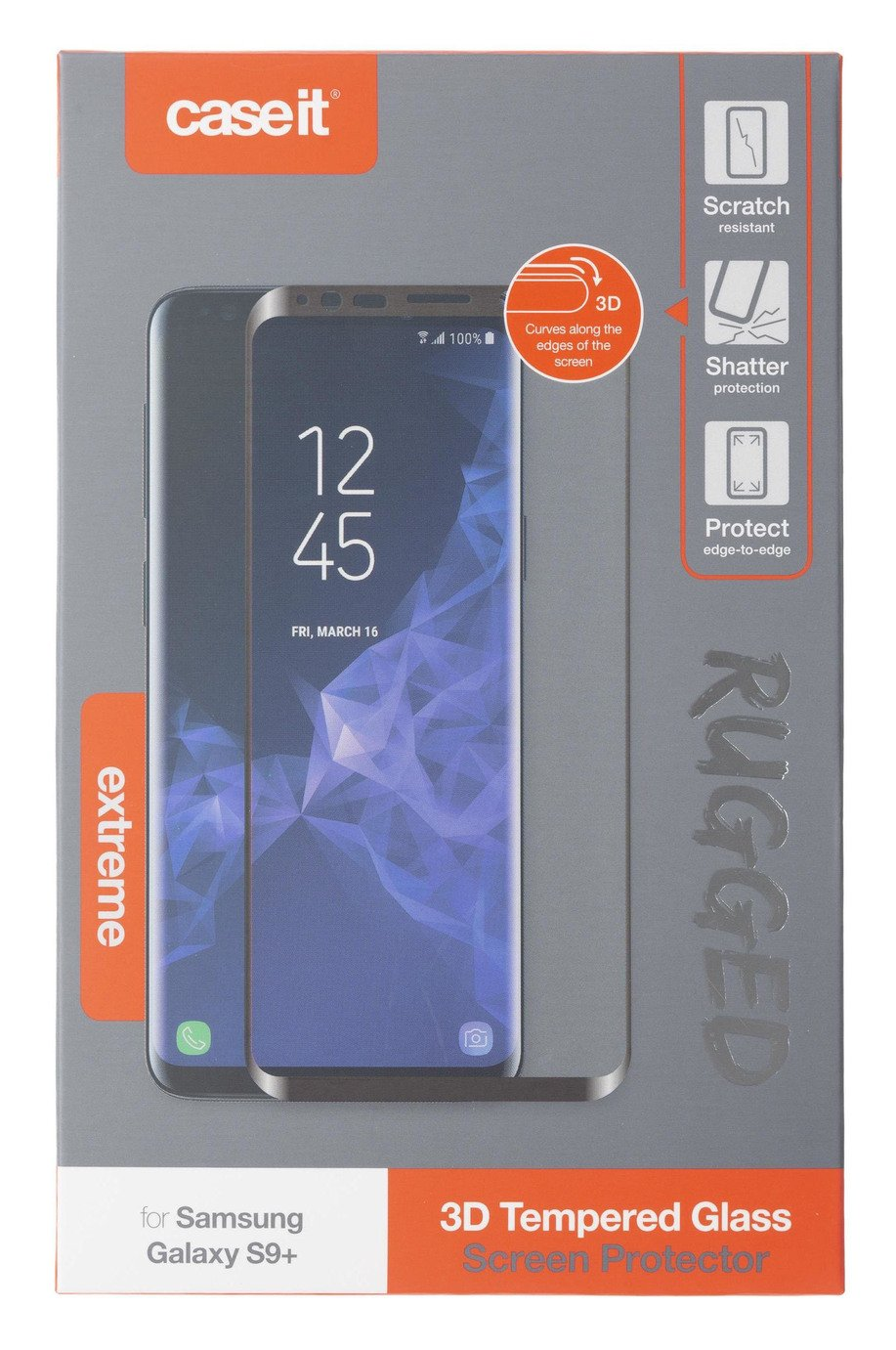 Case It Rugged Samsung Galaxy S9+ Screen Protector