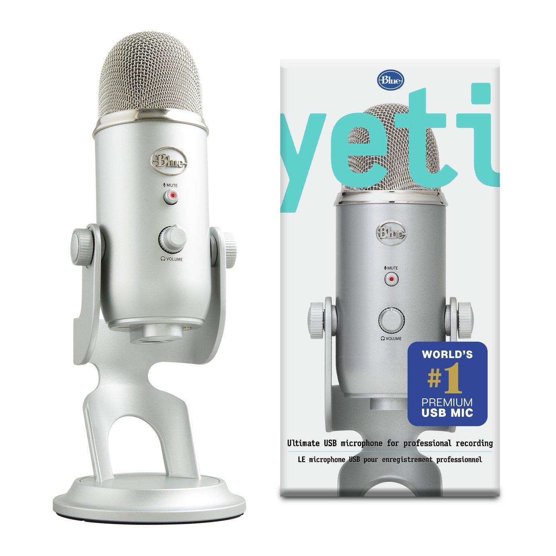 Blue Mic Yeti USB Microphone - Silver