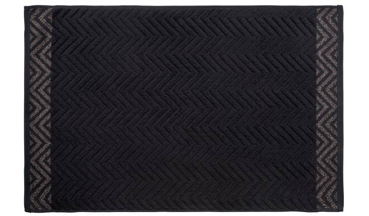 Argos Home Lurex Bath Mat - Black
