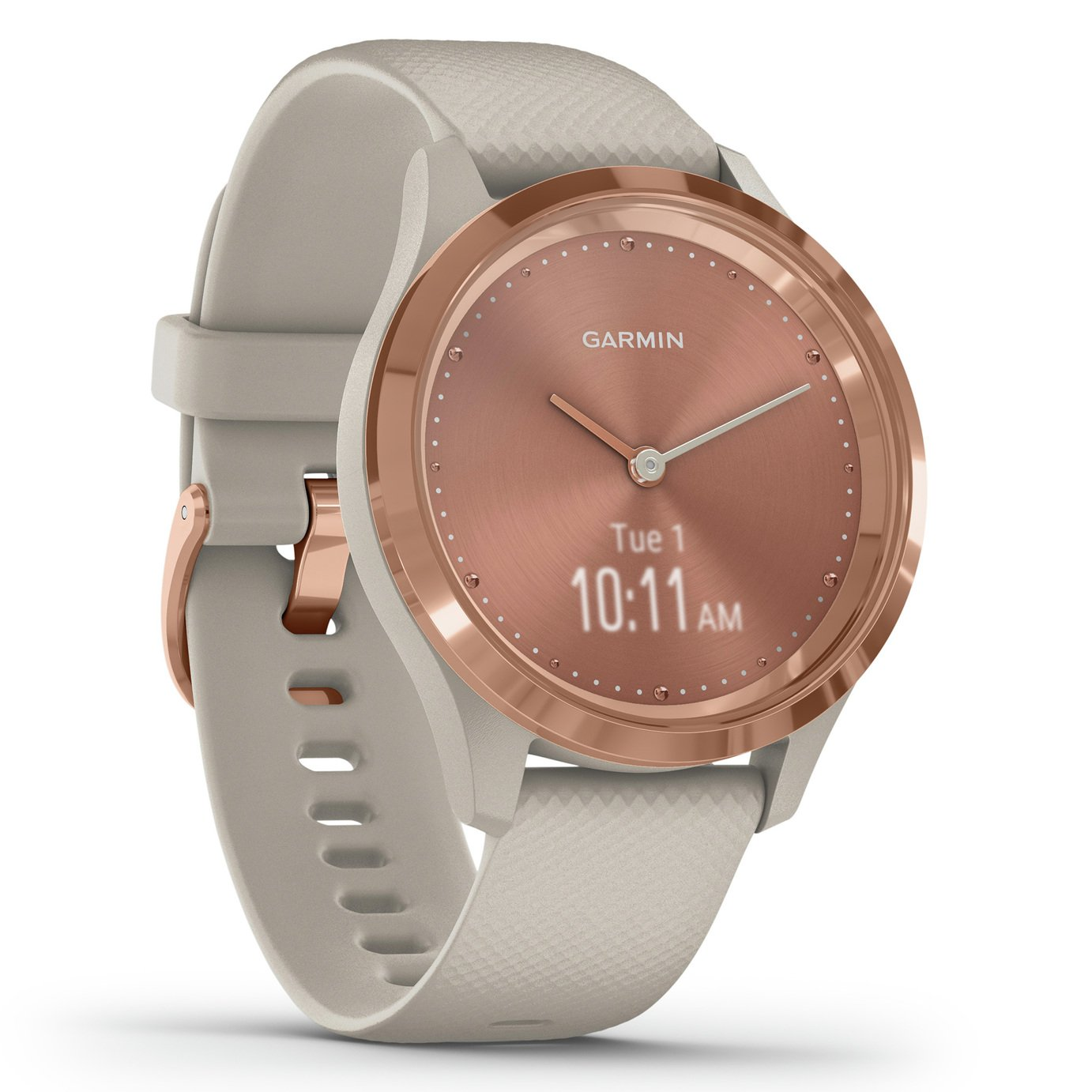 Garmin Vivomove 3S Smart Watch - Rose Gold/ Light Sand