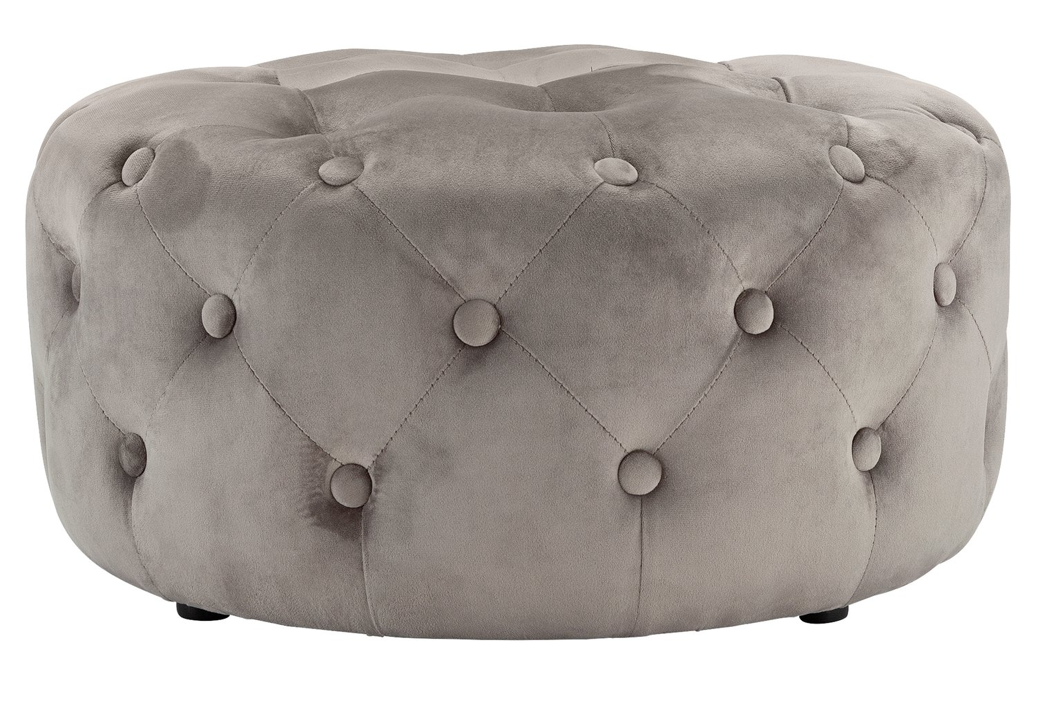Argos Home Rosalie Velvet Footstool - Light Grey