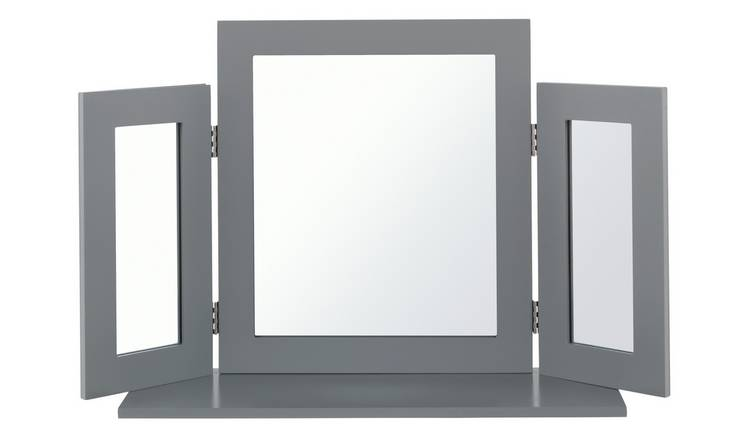 Argos Home Triple Mirror - Grey