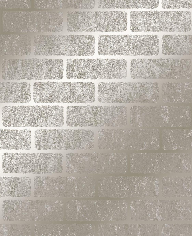 Superfresco Milan Brick Taupe & Gold Wallpaper