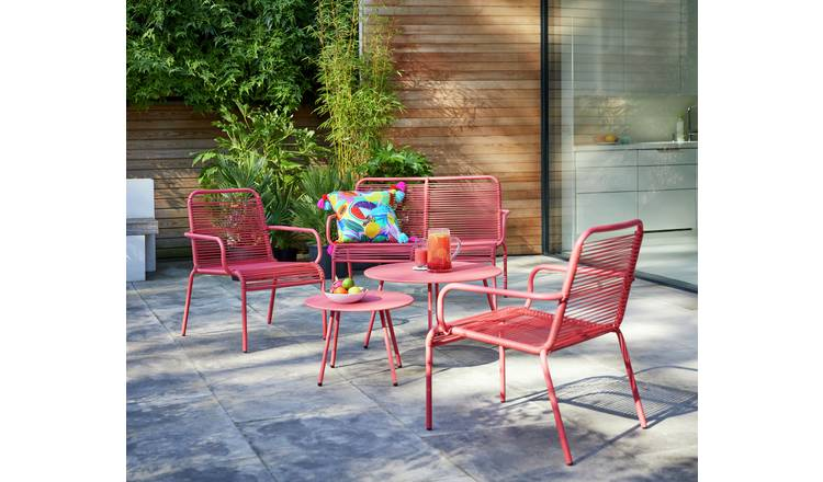 Buy Argos Home Ipanema 4 Seater Sofa Set Coral Patio Sets Argos