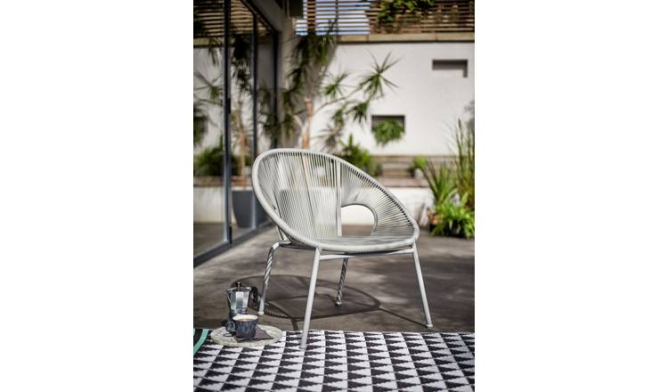 Argos Home Nordic Spring Garden Chair - Grey 1