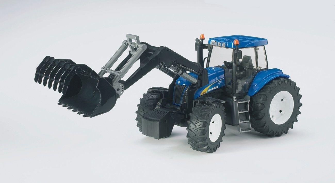 Image of Bruder 03021 New Holland T8040 Frontloader.