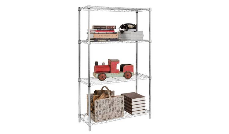 Buy Argos Home Heavy Duty 4 Tier Metal Shelving Unit ...