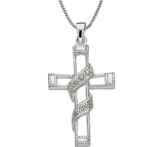 Buy revere sterling silver cubic zirconia entwined cross pendant revere sterling silver cubic zirconia entwined cross pendant aloadofball Image collections