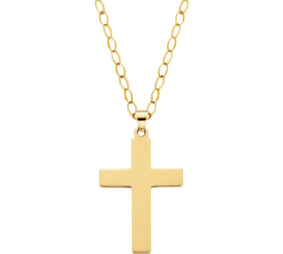 Buy revere 9ct gold cross pendant mens necklaces chains and dog click to zoom mozeypictures Gallery
