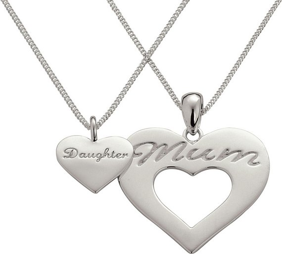 Buy moon back sterling silver mum and daughter pendant set moon back sterling silver mum and daughter pendant set aloadofball Gallery