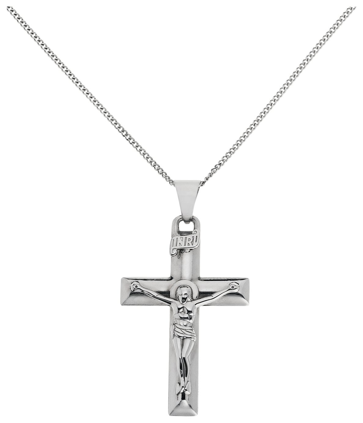 Image of Sterling Silver - Large Crucifix Pendant.