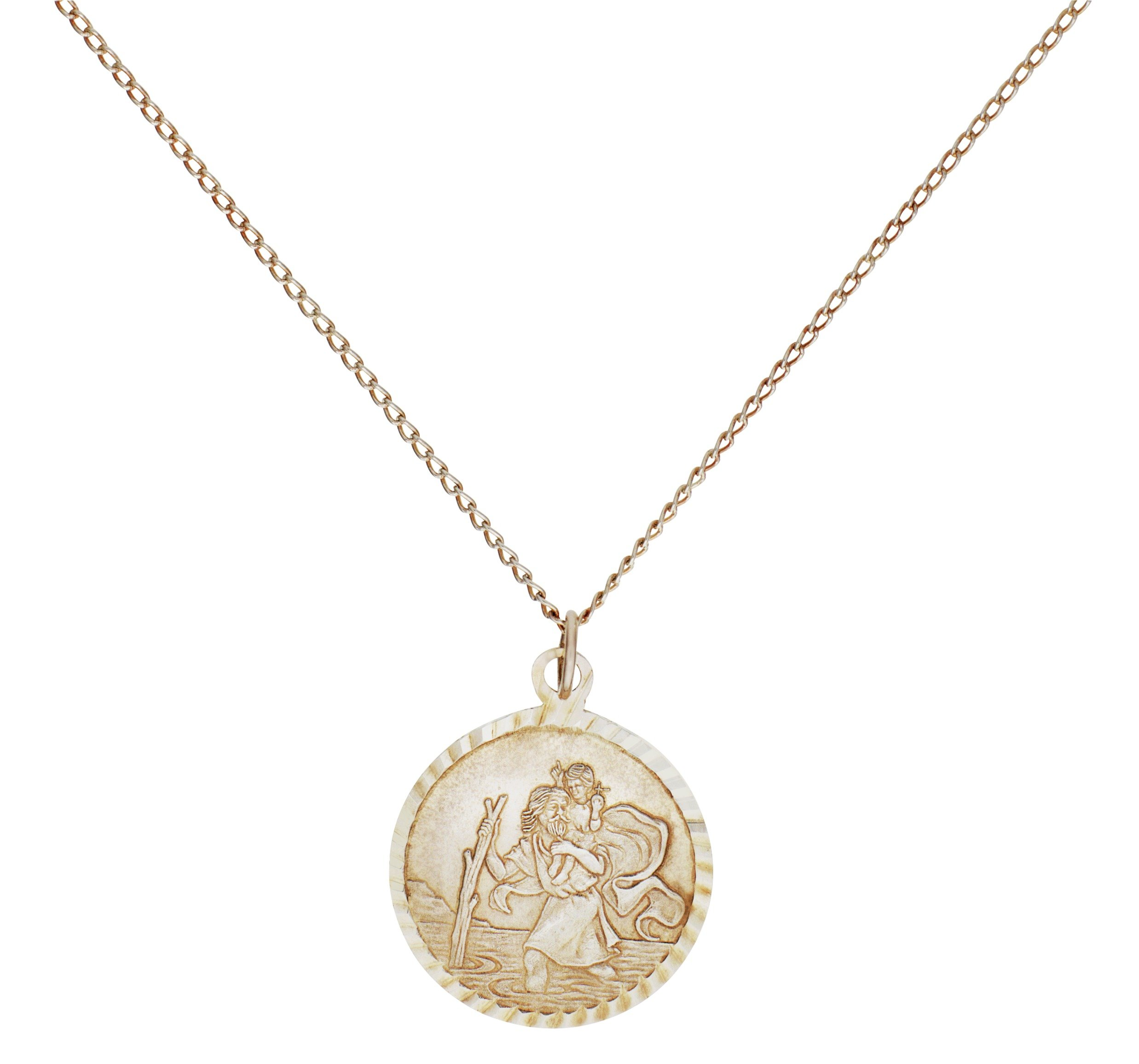Image of Sterling Silver - St. Christopher Pendant.