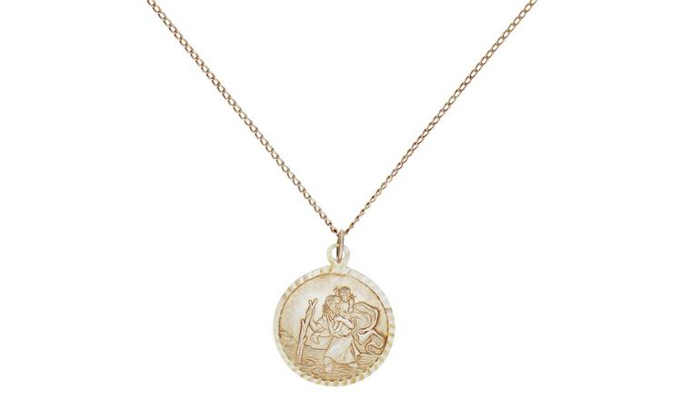 db8265fb66e5d Buy Revere Silver St. Christopher Pendant 16 Inch Necklace   Gifts and gift  sets   Argos