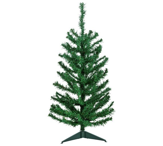 argos home 3ft christmas tree green