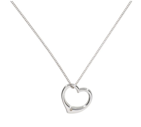 Buy revere sterling silver diamond accent floating heart pendant revere sterling silver diamond accent floating heart pendant mozeypictures Image collections