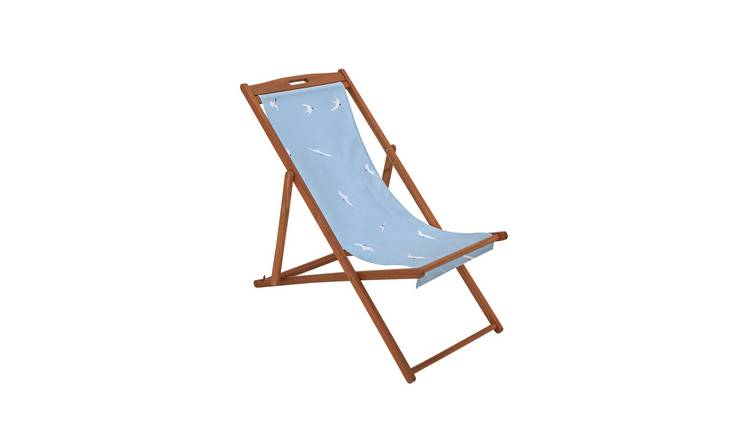 Argos Home Wooden Deck Chair - Seagull 0