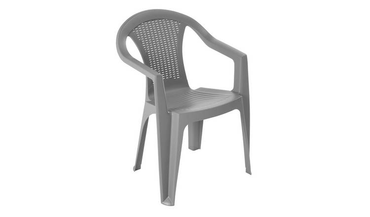 Argos Home Rattan Effect Stacking Chair - Grey 0