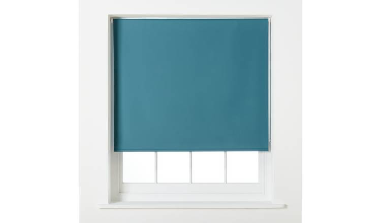 Argos Home Blackout Roller Blind - 4ft - Teal
