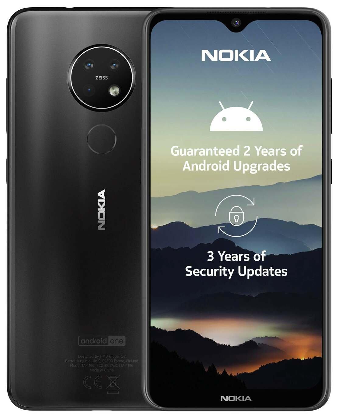 SIM Free Nokia 7.2 64GB Mobile Phone - Charcoal