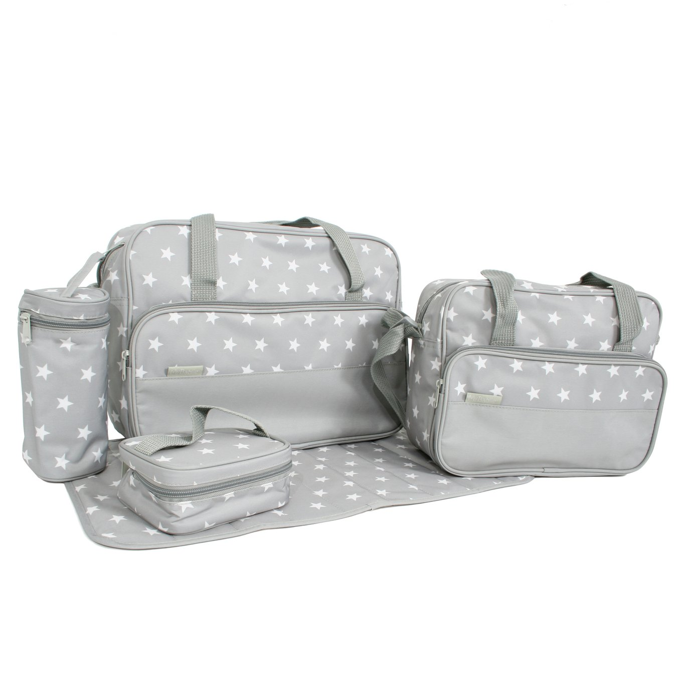 My Babiie 5 in 1 Changing Bag - Grey Stars