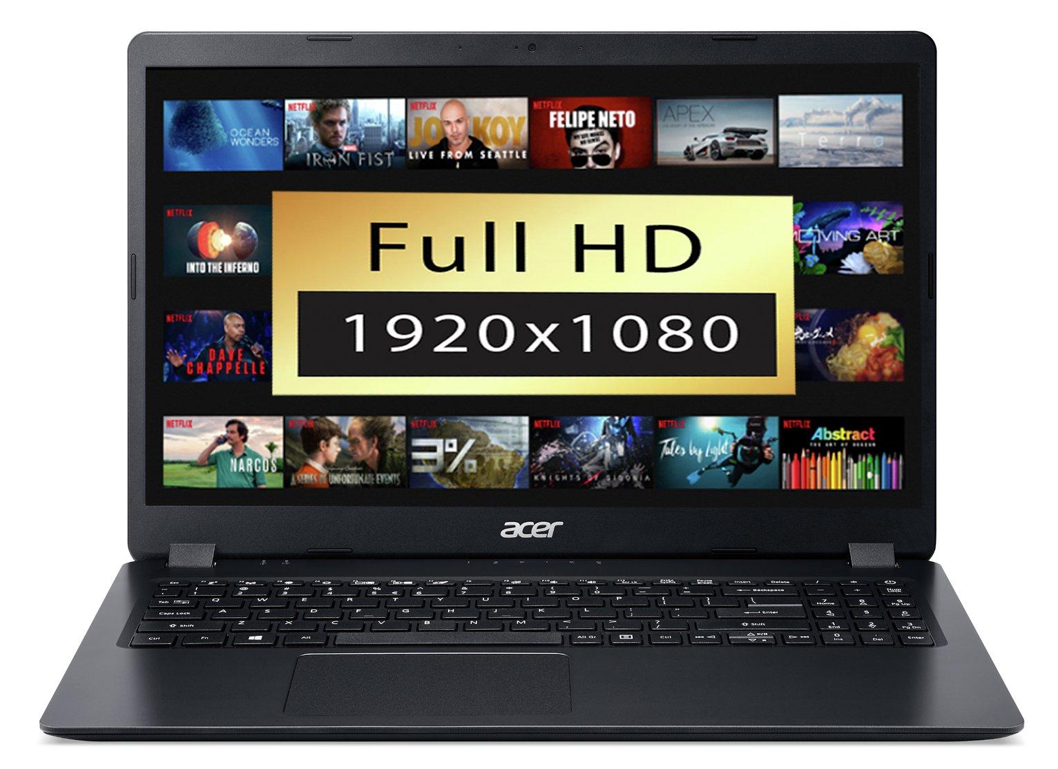 Acer Aspire 3 15.6 Inch Ryzen 3 4GB 1TB FHD Laptop - Black