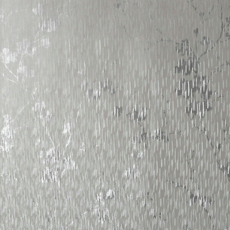 Sublime Theia Blossom Silver Wallpaper