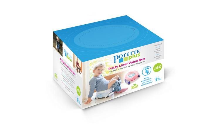 Potette Plus Potty Liners - 60 Pack